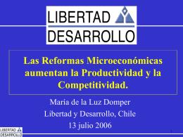 Las Reformas Microeconómicas aumentan la Productividad y