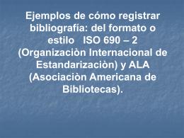 Ejemplo de un libro con un Autor estilo ISO 690-2 y