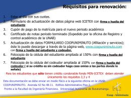 Renovación Créditos ICETEX - Universidad Autónoma de