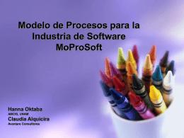 """H. Oktaba, C. Alquicira, """"MoProSoft y su origen"""", 2005"""