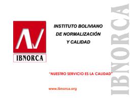 ORGANISMO BOLIVIANO DE CERTIFICACIÓN