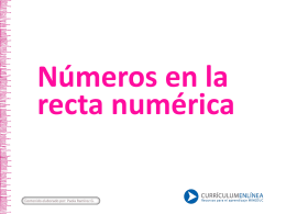 Números en la recta numérica