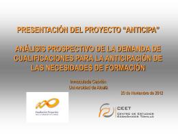 """presentación del proyecto """"anticipa"""""""