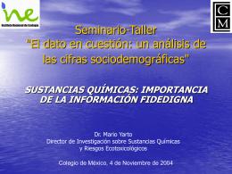 Seminario-Taller - Instituto Nacional de Ecología