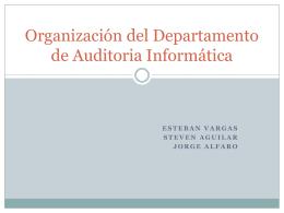 Organización del Departamento de Auditoria Informática