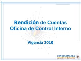 Diapositiva 1 - Gobernación de Cundinamarca