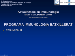 Diapositiva 1 - Universitat de Girona