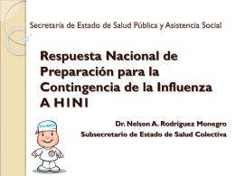 Presentación Respuesta Nacional Influenza A (H1N1)