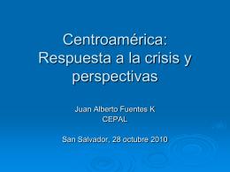 Centroamérica: respuesta a la crisis y perspectivas