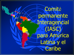 (IASC) para América Latina y el Caribe