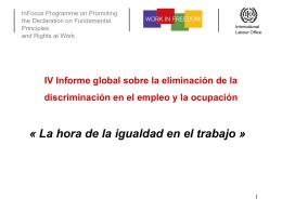 IV Informe global sobre la eliminación de la