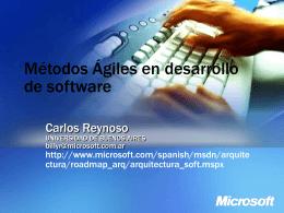 Métodos Ágiles - Carlos Reynoso