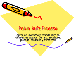 Pablo Ruiíz Picasso - Immaculateheartacademy.org