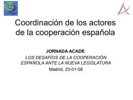 Coordinación de los actores de la cooperación española