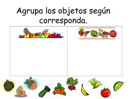 Agrupa los objetos según el conjunto que corresponda