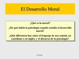 Psicologia del Desarrollo Moral
