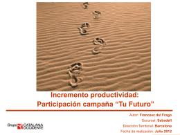 """Participación campaña """"Tu Futuro"""""""
