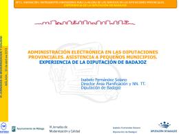 Diputación Badajoz - Servicio de Calidad y Modernización