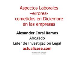 Alexander Coral Ramos Abogado Líder de