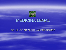 MEDICINA LEGAL - mtro gabriel alfredo carrillo burgos