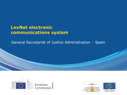 Lexnet – General Secretariat of justice administration (Spain)
