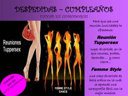 DESPEDIDAS – CUMPLEAÑOS UNICOS EN COMODORO!!!