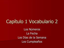 Capítulo 1 Vocabulario 1