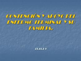 CONTENCIÓN Y APOYO DEL ENFERMO TERMINAL Y SU FAMILIA