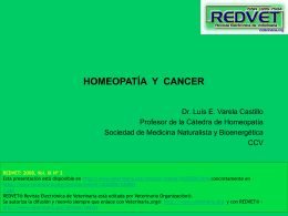 HOMEOPATÍA Y CANCER