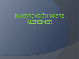 Investigación sobre alzheimer grupos multifamiliares