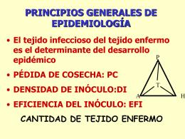 PRINCIPIOS GENERALES DE EPIDEMIOLOGÍA