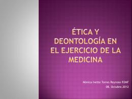 Ética.Deontologia médica