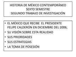 El México que recibe el presidente Felipe Calderón el 1 de