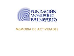 Presentación general FMB - fundación mondariz balneario