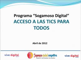 "Programa ""Sogamoso Digital"""
