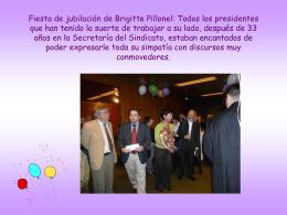 Lors du départ à la retraite de Brigitte Pillonel après