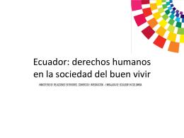 Diapositiva 1 - embajada de ecuador en colombia