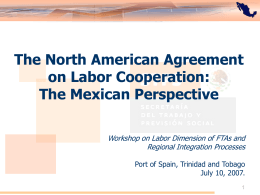 The North American Agreement on Labor Cooperation