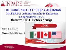 Tratado de Libre Comercio de América del Norte [TLCAN]