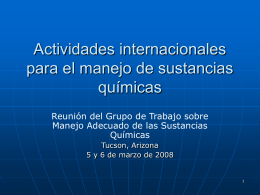 International Chemicals Management