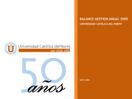 Mayo 2006 - Inicio - Universidad Católica del Norte