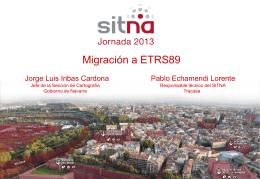 Migración a ETRS89 - PCyP SITNA