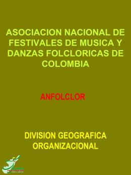 División Zonas Folcloricas