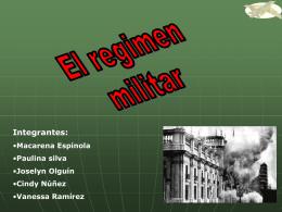 regimen militar (sintesis)