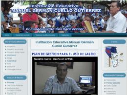 Plan Gestión TIC - Institución Educativa Manuel Germán Cuello