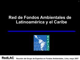 Reunión del Grupo de Expertos en Fondos Ambientales, Lima