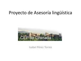 Proyecto de Asesoría lingüística CEP de Granada