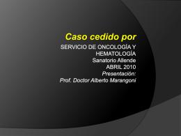 Servicio de oncología y hematología abril 2010