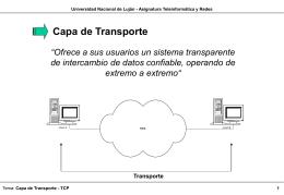 Transporte - Universidad Nacional de Luján