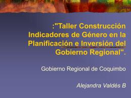 Indicadores de Género en la Planificación e Inversión del Gobierno